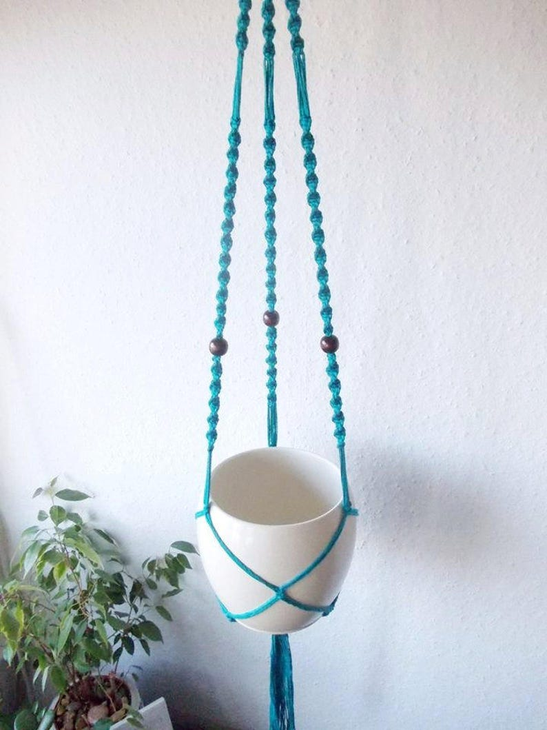 Cotton Macrame Plant Hanger Many Colors 37 95 Cm Long Modern Indoor Plant Stand Made From Cotton Yarn Suitable As A Baby Room Decor
