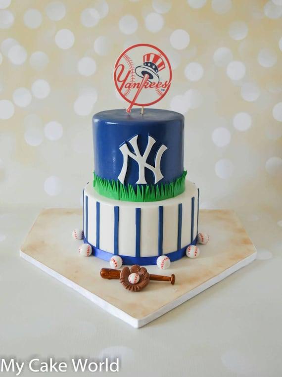 Astonishing Baseball Cake Topper Baseball Cake Topper Set Ny Yankees Etsy Funny Birthday Cards Online Benoljebrpdamsfinfo