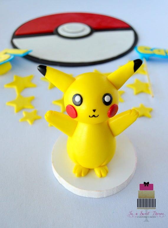 Pikachu Kuchen Topper Pokemon Kuchen Topper Pokemon Kuchen Etsy
