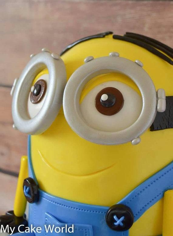 Fondant Minion Goggles minions cake topper fondant minion | Etsy