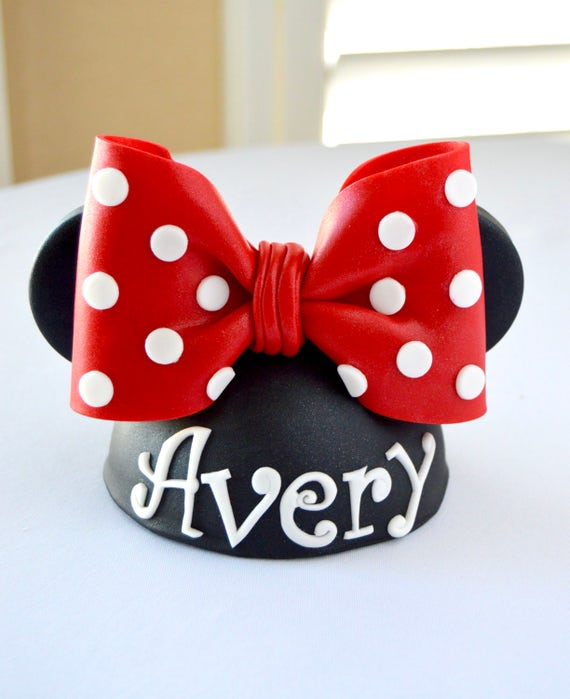 Mouse Hat Cake Topper Minnie Hat Minnie Mouse Ears Minnie Etsy