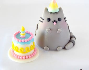 Cat and Cake Topper Set