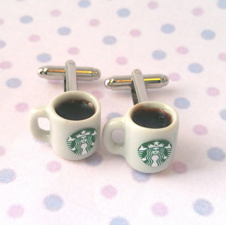 Miniature Starbucks Coffee Cufflinks