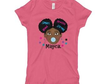85b3a9156617 Black Girl Magic T-Shirt for Girls