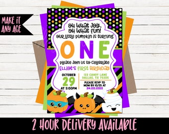halloween birthday invitation halloween birthday invite halloween bday invitation costume party halloween party pumpkin halloween bday