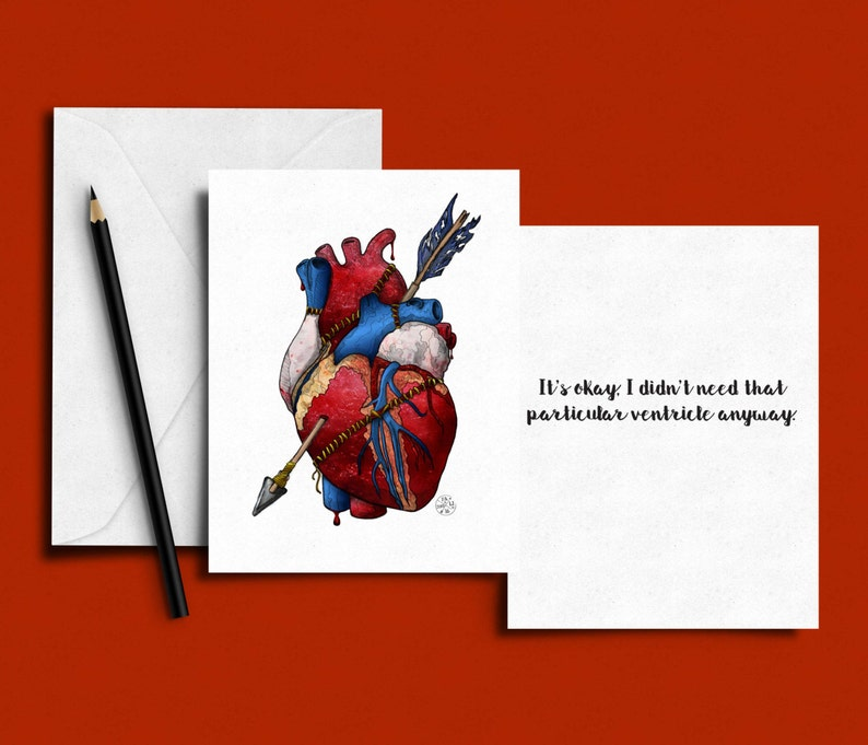 Heart Attack Valentine's Day / Love Card image 0