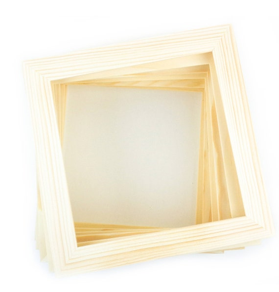 8x8 Bulk Unfinished Wood Frames 8x8 Picture Frames Etsy