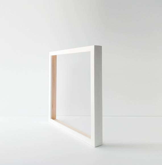 Custom Canvas Frame White Frame Back Loading Wood Frame | Etsy