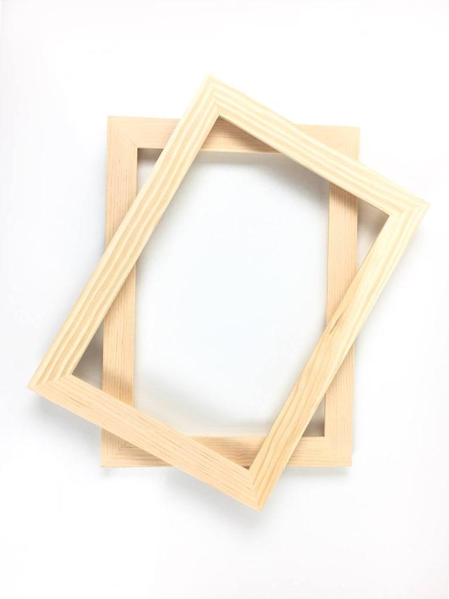 Unfinished Wood Frame 8x12 Picture Frame Unfinished Frames | Etsy