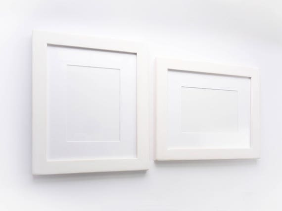 White Wooden Picture Frame With Softened Edge, Rustic Frame ...