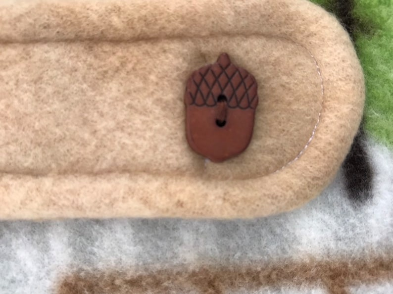 with Removable Accorn Button Back-strap /& Bow tie Small Dapper Ruffin/' It Hand made fleece dog jacket IN STOCK