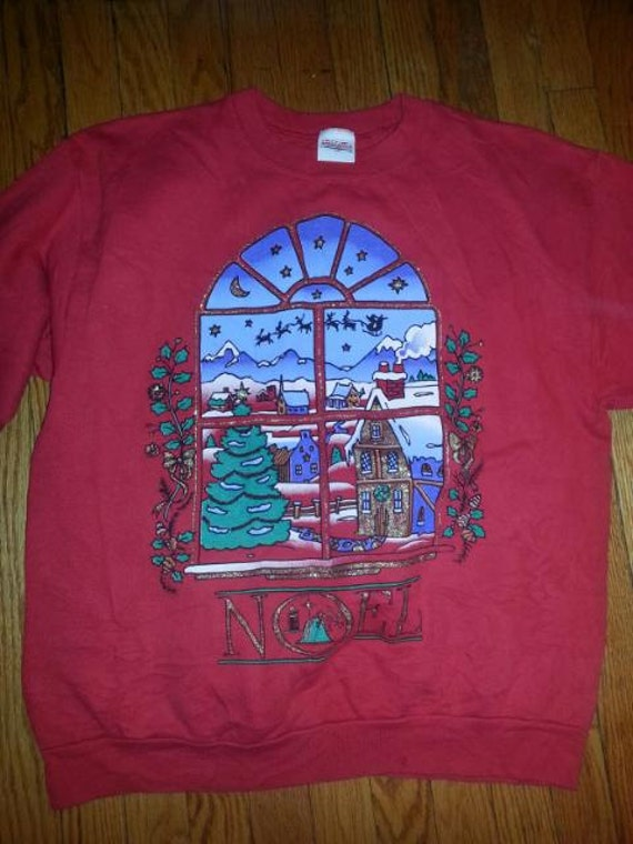Ugly Red Christmas Window NOEL Sweatshirt/Sweater