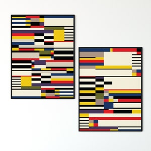 : 8X12 Inch 20X30cm Inch Zamtac N1865 Vintage Bauhaus Exhibition Reproduction Wall Sticker Silk Fabric Poster Art Indoor Decor Bright - Size
