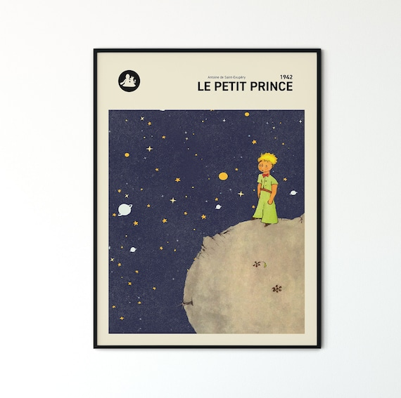 The Little Prince Wall Art Print Le Petit Prince Book Cover Etsy