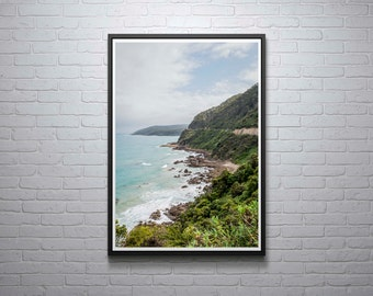 Beautiful Coastal Scenery, The Great Ocean Road, Victoria, Australia, Print, Wall Art, Home, Bathroom Decor,