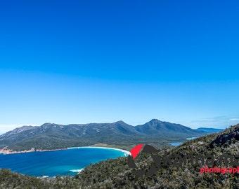 Wineglass Bay Photograph, Freycinet National Park, Coastal Scenery, Australian Beach, Tasmania, Tassie, East Coast, Print