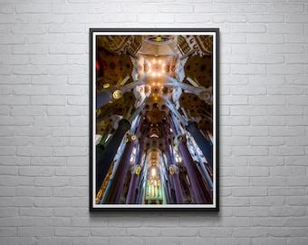 La Sagrada Familia Photo Barcelona Gaudi wall art print