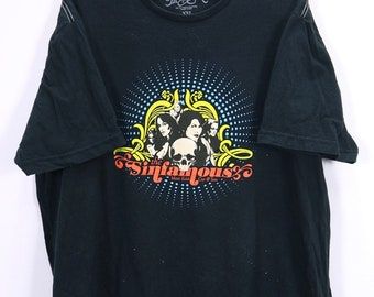 a5fcf4d437 Vintage The Sinfamous Marc Ecko T-shirt Big Logo Short-Sleeve Black Color  Made in Mexico