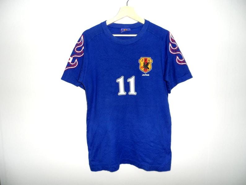bc6b8b6413e Vintage Japan JFA t shirt soccer football Ono Medium Size | Etsy