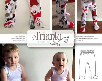 Baby Footsie Leggings - PDF Sewing Pattern and Photo Tutorial - Sizes 000 to 2 - Instant Download - Kids Toddler Child Easy Sew Pattern