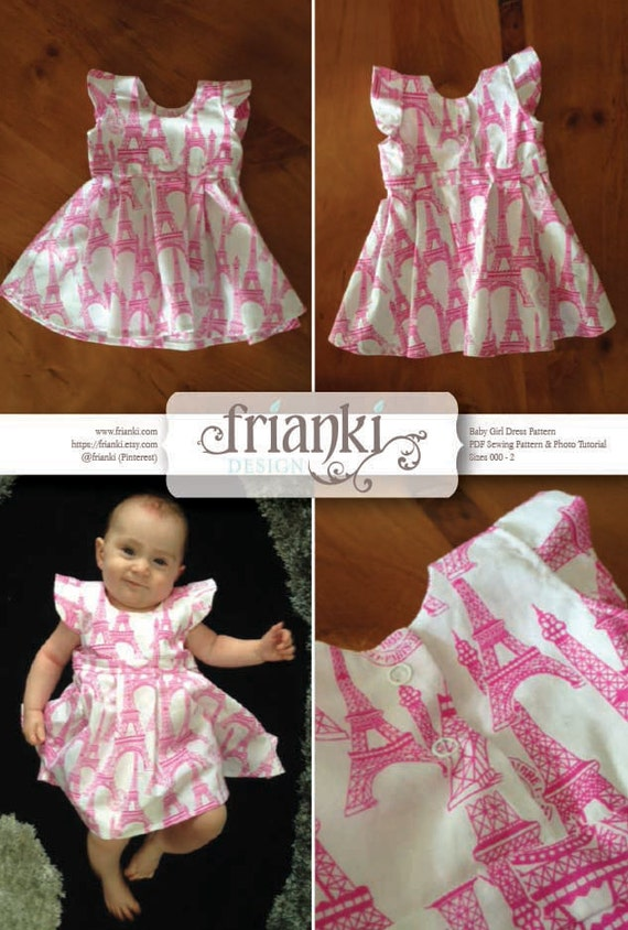 Baby Girl Dress Pdf Sewing Pattern And Photo Tutorial Etsy