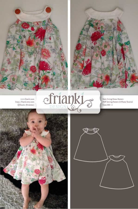 Baby Girl Swing Dress Pdf Sewing Pattern And Photo Tutorial Etsy