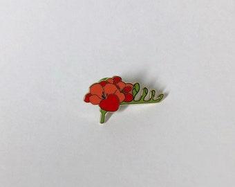 Freesia Floral Hard Enamel Pin