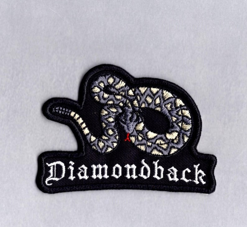 RATTLESNAKE Diamond Back Embroidered Iron on or sew on Patch//Applique 3 inch