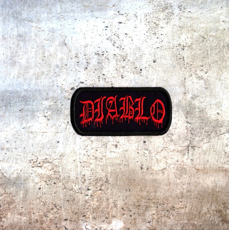 Diablo patch diablo devil crest Iron to Sew on Badge