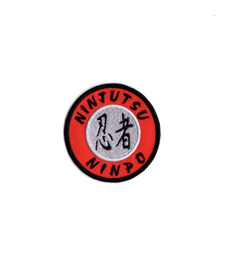 NINJUTSU EMBROIDERED PATCH  MARTIAL ARTS IRON ON TO SEW ON PATCH