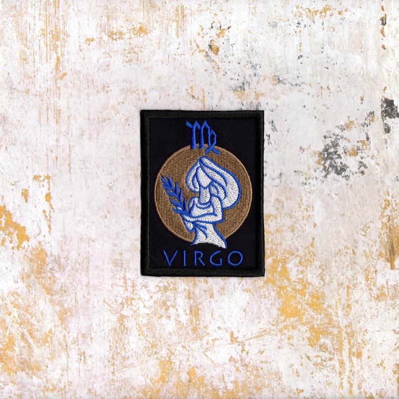 Virgo Zodiac Patch Virgo Zodiac Symbol Crest Iron to Sew on Badge as Pictured AP 67