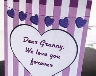 Granny Printable Valentines Card
