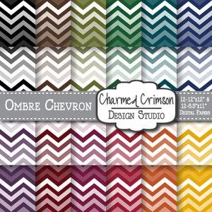Ombre Chevron Paper Lavender Digital Pattern Yellow Digital Paper Light Blue Mint Chevron Digital Paper Pink Digital Paper
