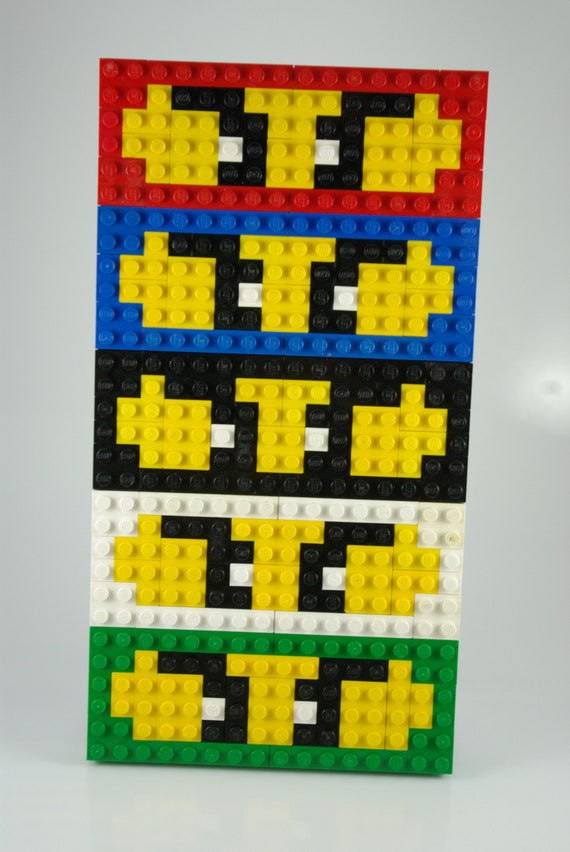 Ninjago Character Masks Pixel Art Handmade From Lego Bricks And Mega Bloks