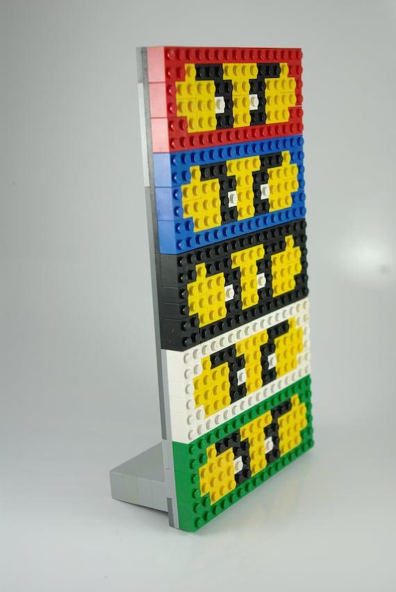 Ninjago Character Masks Pixel Art Handmade From Lego Bricks And Mega Bloks