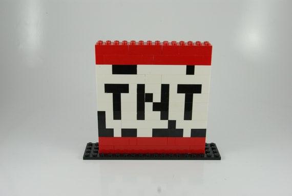 Large Minecraft Tnt Block Pixel Art Handmade From Lego Bricks And Mega Bloks