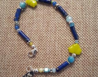 Lapis & Silver Bracelet
