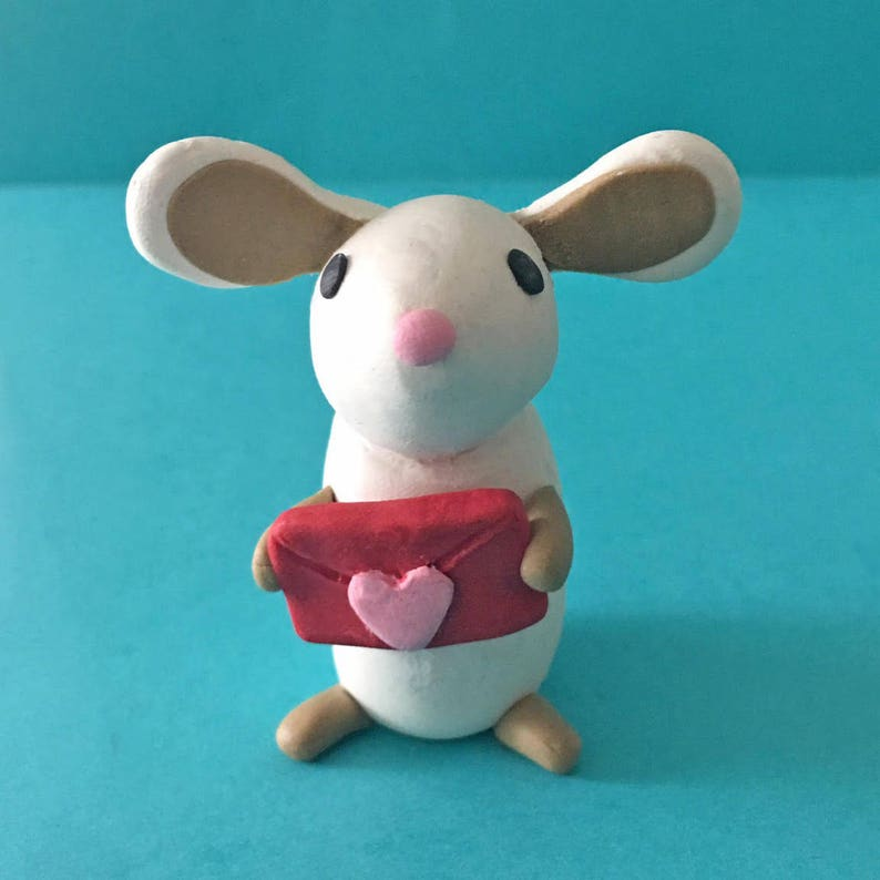 Mouse figurine // MOUSE CLAY KIT // Gift for Kids // Miniature image 0