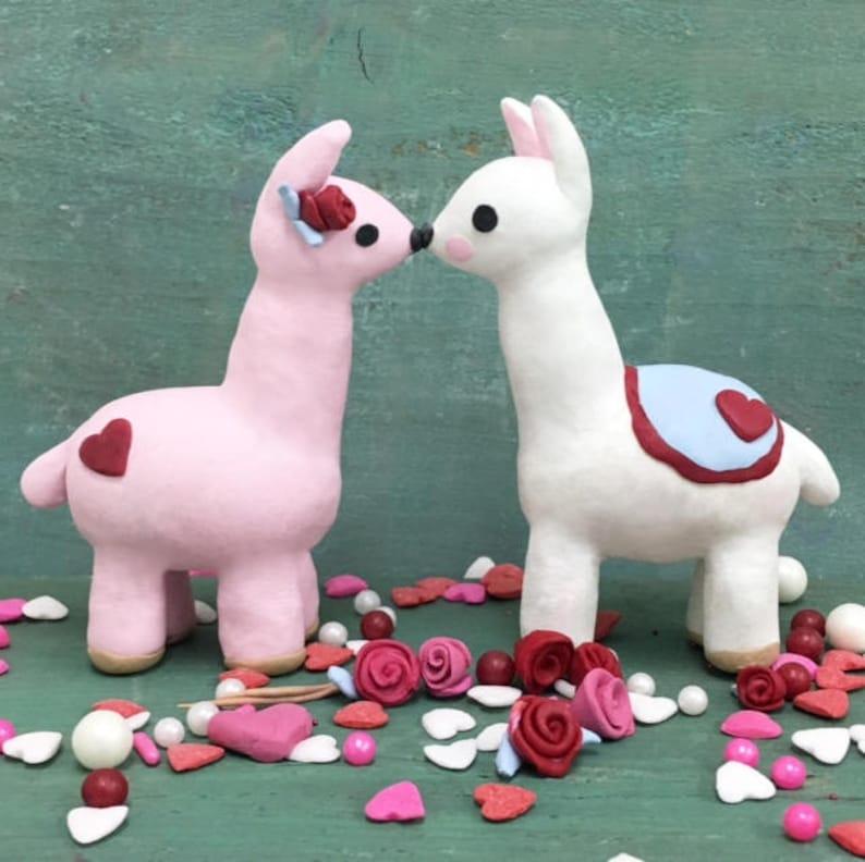 Valentines Llama CLAY KIT // Polymer Clay// Gift // Clay image 0