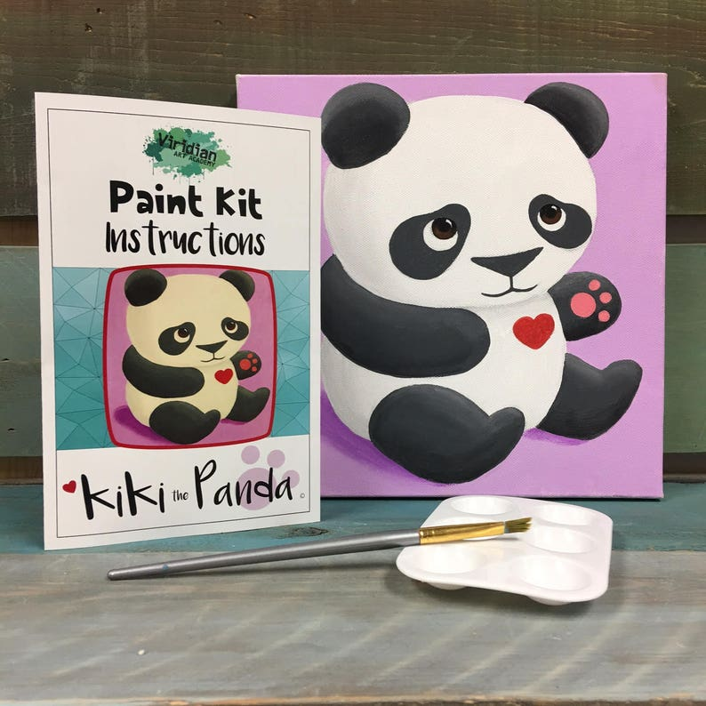 Panda Paint Kit / Adorable Birthday Gift / Unique Holiday Gift image 0