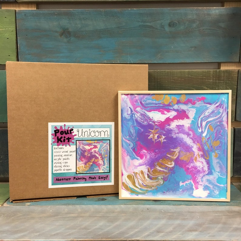 Abstract Paint Kit Unicorns Birthday Gifts Holiday Sale & image 0