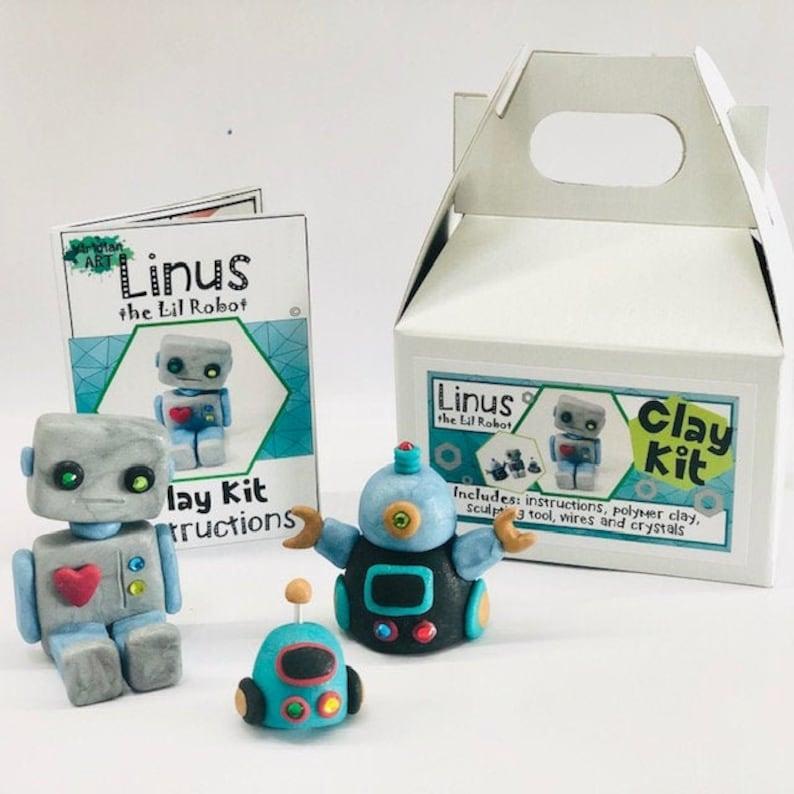 ROBOT Clay Kit// Kids Birthday Gift//Art Kit FREE SHIPPING image 0