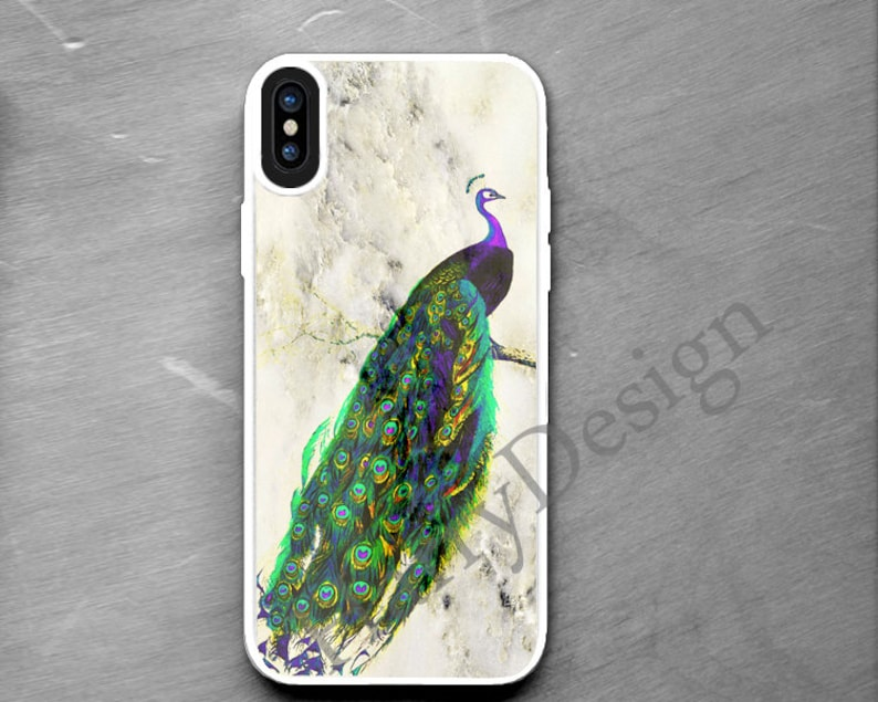 Iphone Iphone Xs Max Caso Marmo Pavone Xr X Custodia Iphone 8 Etsy