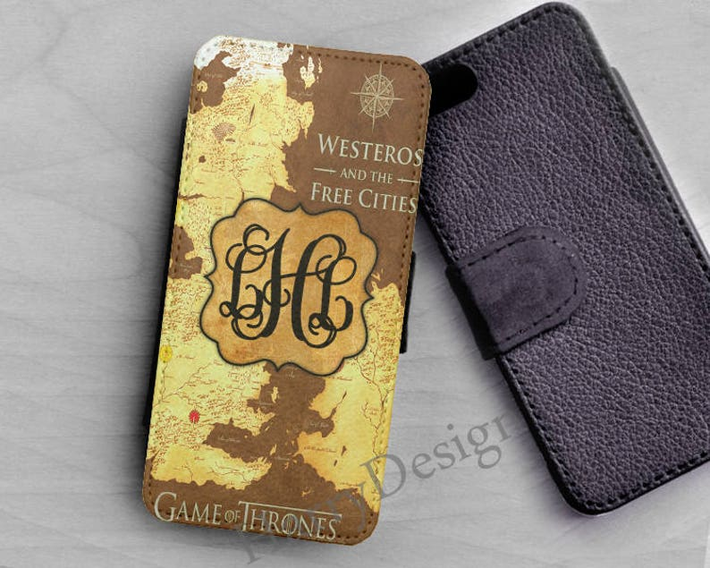 Personalized Wallet Map of Game of Thrones iPhone XS iPhone Xr iphone 8 7  6S Plus wallet Galaxy S9 S8 plus S7 S6 Edge Note 9 8 5 wallet case