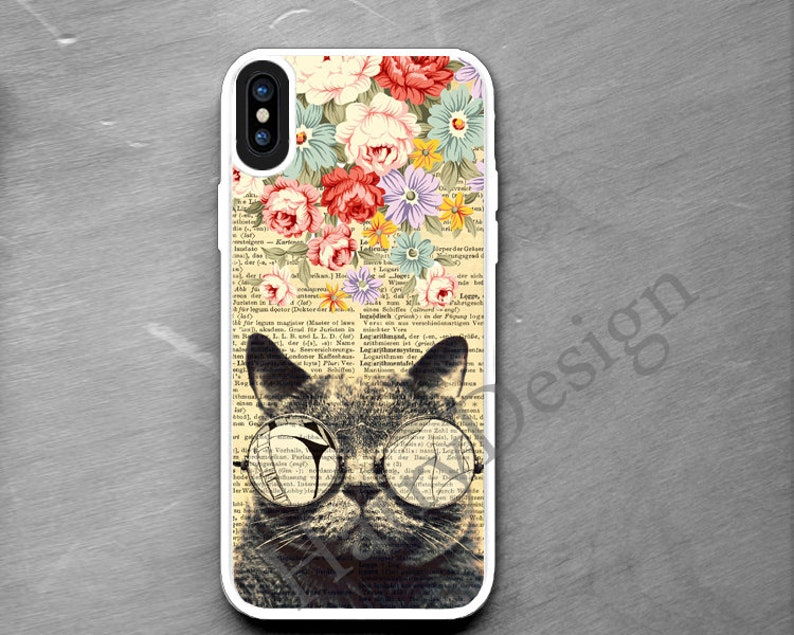 promo code ace1e dbe14 iPhone Xs case Flowers & Cool Cat iPhone X Xr case iPhone 8 7 6 plus case  Samsung Galaxy S9 S8 Plus Galaxy S7 S6 Edge Galaxy Note 9 8 5 case