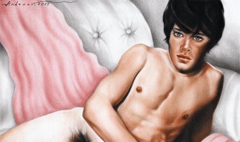 Mannelijke modellen poseren naakt