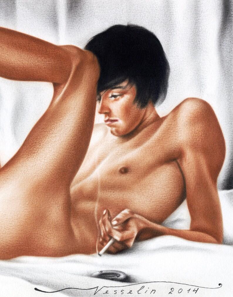 Naakt Guy modellen