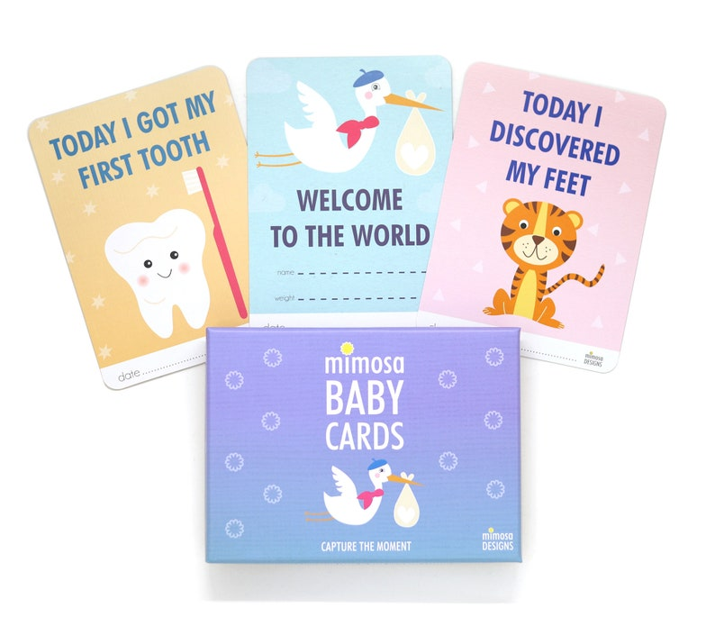 0d92bfd2f27 Mimosa Baby Milestone Cards 0-1 year. Baby s First Year