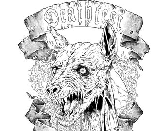 Original Deathfest Clan Pen And Ink Illustration
