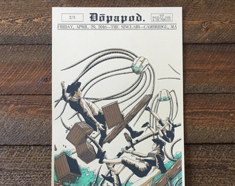 Dopapod Triptych 2 of 3 Screen Printed Poster